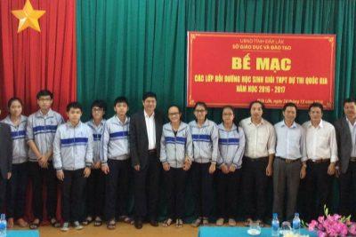 25 học sinh tỉnh Đắk Lắk đạt giải trong kỳ thi chọn học sinh giỏi quốc gia năm 2017