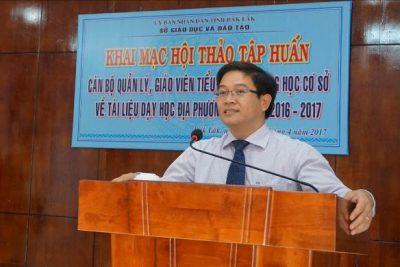 Hội thảo tập huấn về tài liệu dạy học địa phương tỉnh Đắk Lắk